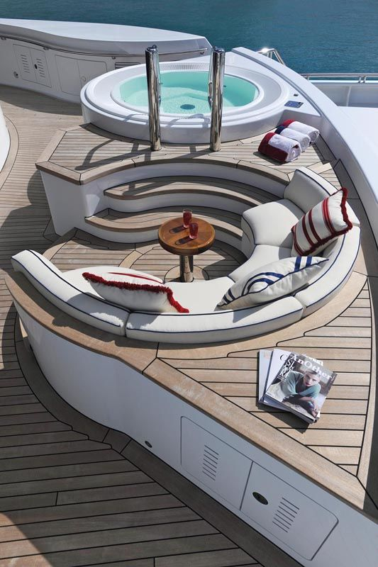 Because if you have a superyacht, you have to have a hot tub. #boatsdotcom
