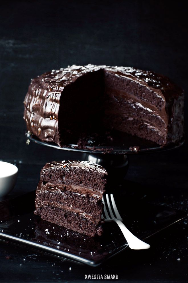 Chocolate Cake with Salted Caramel Cream