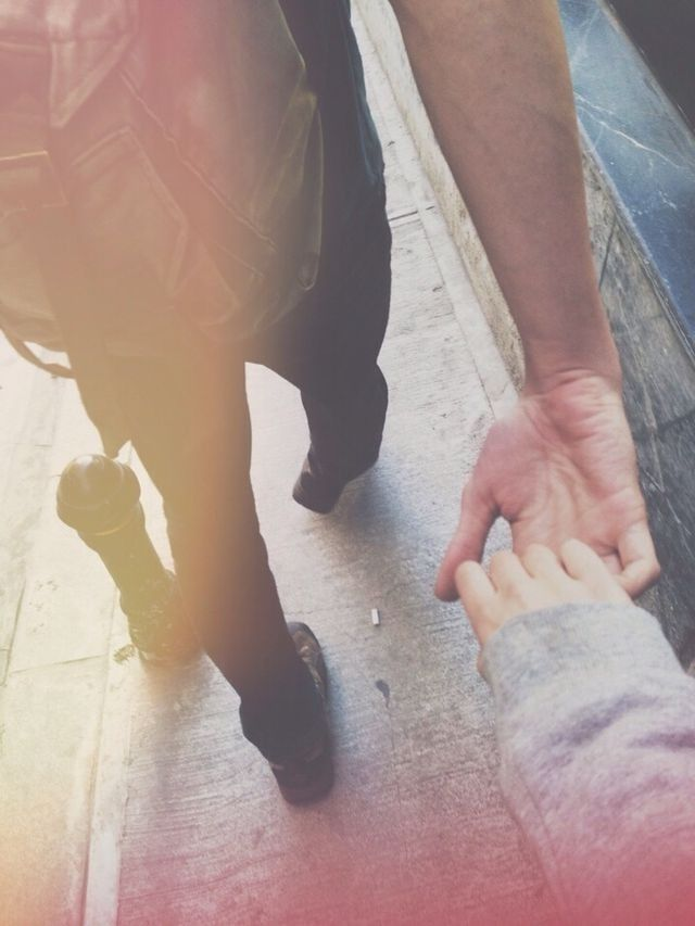 Walk around holding hands, keeping each other company while exploring the world. <3