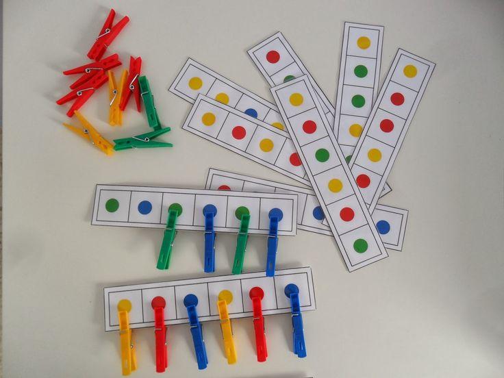 Materiales para Educación Infantil: CADA PINZA CON SU COLOR