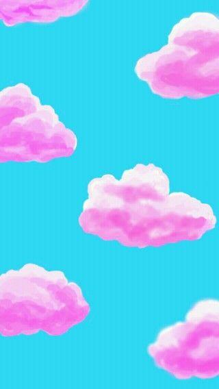 Pink clouds cute wallpaper