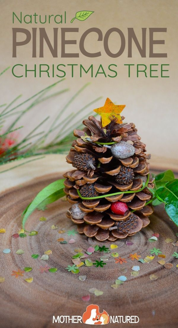 The prettiest Natural Pinecone Christmas Tree Craft     #christmascraft #pineconecrafts #pineconechristmascrafts