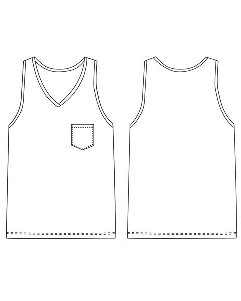 """Arrowsmith MEN""""S Undershirt FREE sewing pattern by Thread Theory"""