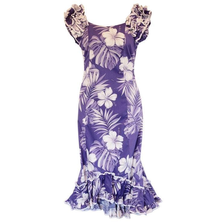 Waikiki Purple Hawaiian Meaaloha Muumuu Dress with Sleeves   #maxidress #sexyhawaiiandresses #sundress #floraldress #hawaiianweddingdress #hawaiiandress #hawaiiandresses