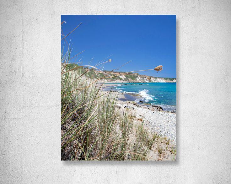 Seascape Grass Print  Dune Grass photography Beach photography Blue Sky Photo Beach house Decor blue Summer decor Fine Art Photo Print by LightBluePhotography on Etsy