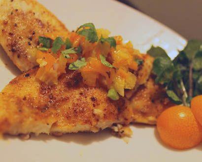 Tilapia with Spicy Kumquat Salsa Recipe by Yasmin Fahr