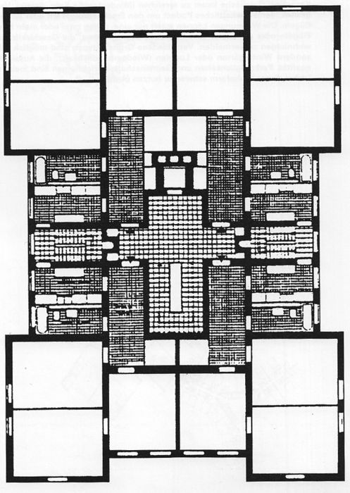 Hochhaus an der Weberwiese, plan