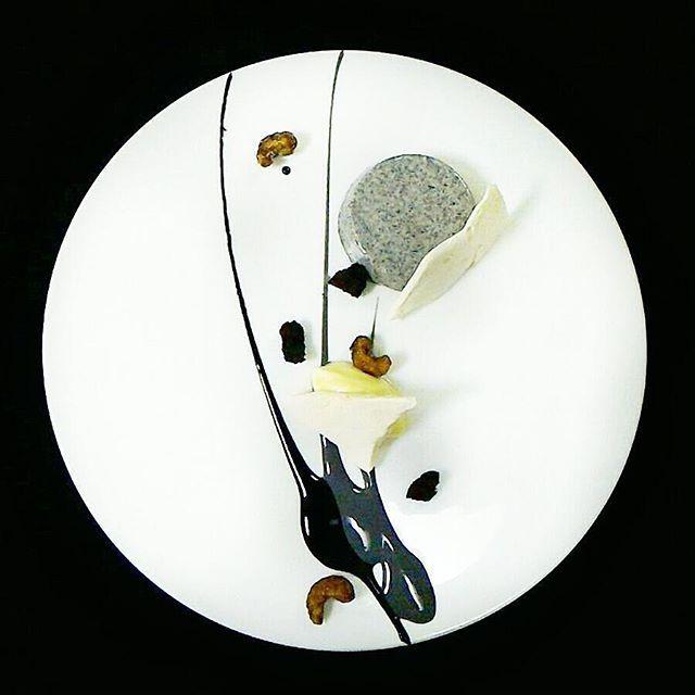 Monochrome Black Sesame Panna Cotta, Liquorice, Black Biscuit Crumbs, Caramelized Salted Cashew, Flaked Meringue, Mascarpone by Chef Enggie A. Kusumah @enggieakusumah at The Ritz-Carlton @ritzcarlton @RitzCarltonChefs #mymuybuenochefs #mymuybueno #chef #cheflife #food #foodporn #foodie #instafood #chefsoninstagram #foodlover #culinary #gastronomy #chefsofinstagram #chefsroll #fourmagazine #truecooks #theartofplating #foodexpert #RCMemories #ritzcarlton #blacksesame #sesame #pannacotta…