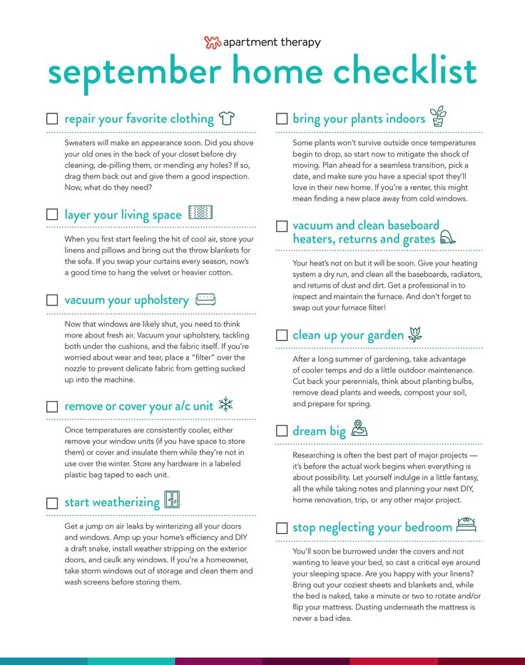 Put the Summer Heat Behind You & Ease Your Home Into Fall With Your September Checklist — Healthy & Happy Home Monthly Checklist
