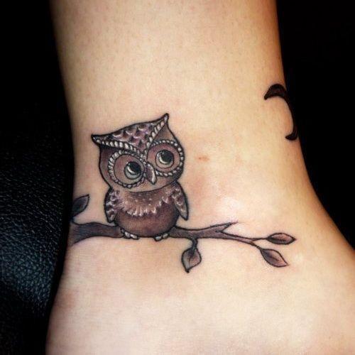 Cute small owl tattoo!