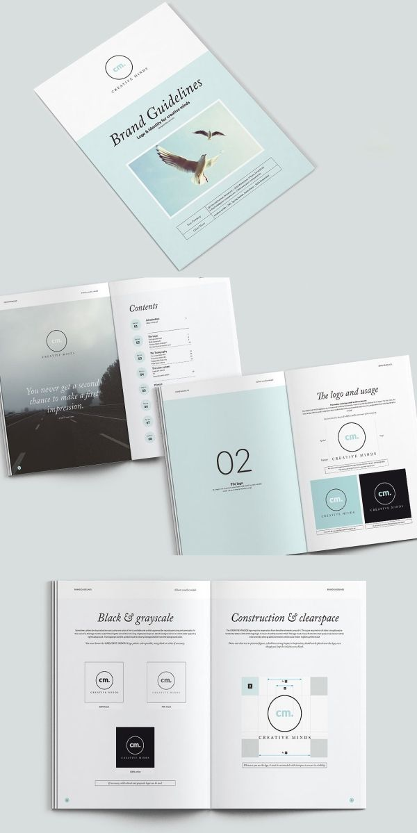 Imagearea Brand Guidelines Template 44 Pages Brand Guidelines Template Brand Guidelines Guideline Template