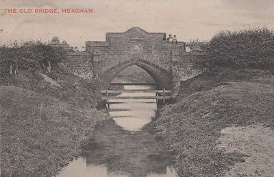 Child Dangerously Sitting on The Old Bridge Heacham Norfolk Antique Postcard