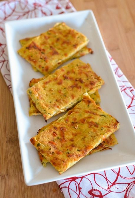 Cauliflower Garlic Flatbread - Gluten Free, Grain Free, Slimming World, Weight Watchers and Paleo Friendly