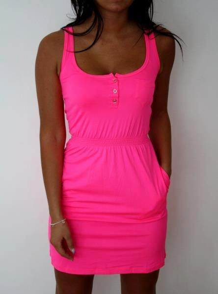 @amber Bednorz this is so you!: Pink Summer Dresses, Hot Pink Dresses, Hotpink, Casual Summer, Bright Pink, Dreams Closet, Spring Summ, Neon Pink, Bright Colors