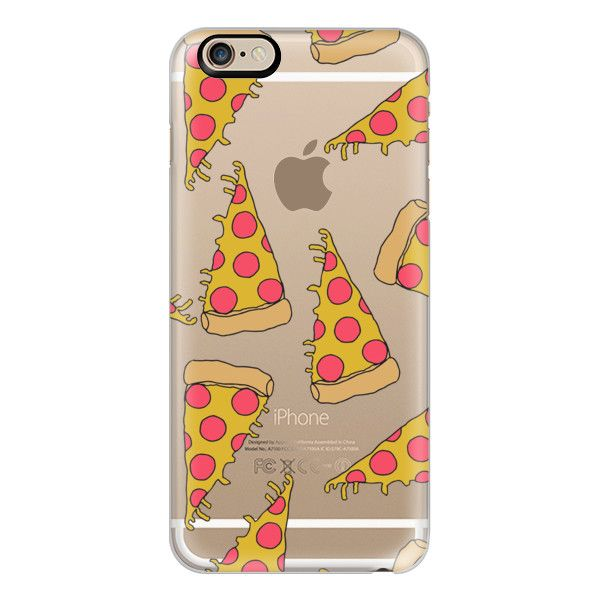 iPhone 6 Plus/6/5/5s/5c Case - Pizza - junk food cute foodie clear... ($40) ❤ liked on Polyvore featuring accessories, tech accessories, electronics, iphone case, clear iphone cases, apple iphone cases, iphone cover case and slim iphone case