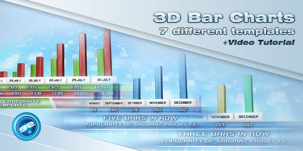 3D Bar Chart Templates 3d and Bar - graphs and charts templates