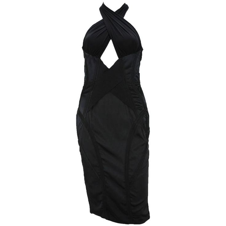 TOM FORD for GUCCI Runway F/W 2003 Collection  Black Corset Dress It 42 - US 6  | 1stdibs.com