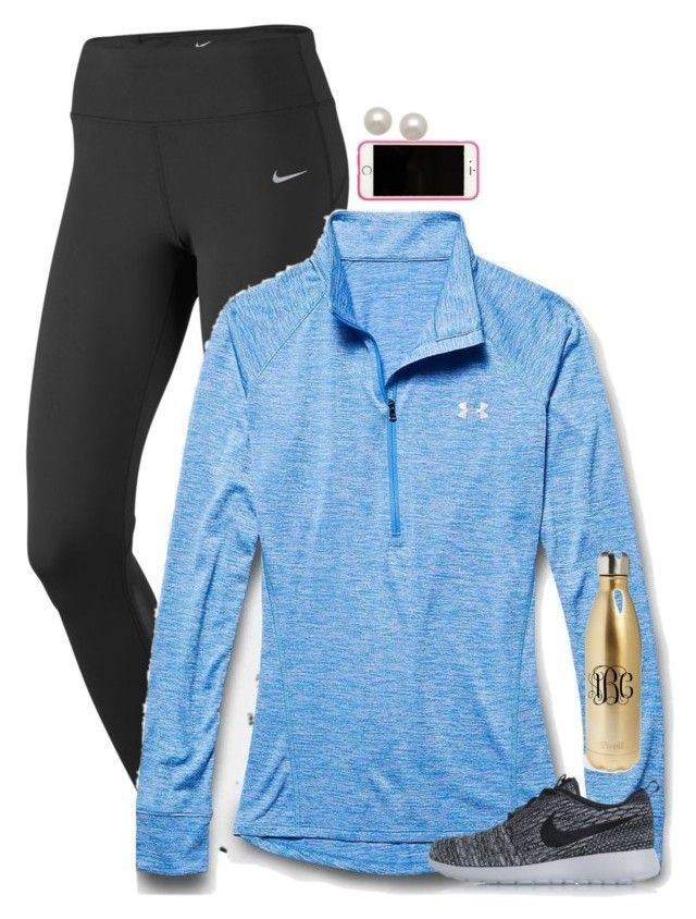 """""""perfect {preppy} workout"""" by preppy-ginger-girl ❤ liked on Polyvore featuring NIKE, Under Armour, Lilly Pulitzer, Honora, S'well, women's clothing, women, female, woman and misses"""
