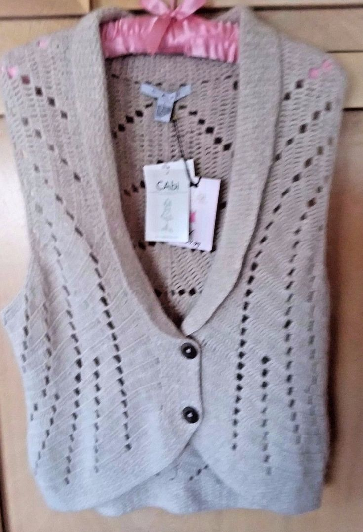 CABI Hand Knitted Women's Beige Sweater Vest Size L | Clothing, Shoes & Accessories, Women's Clothing, Sweaters | eBay!