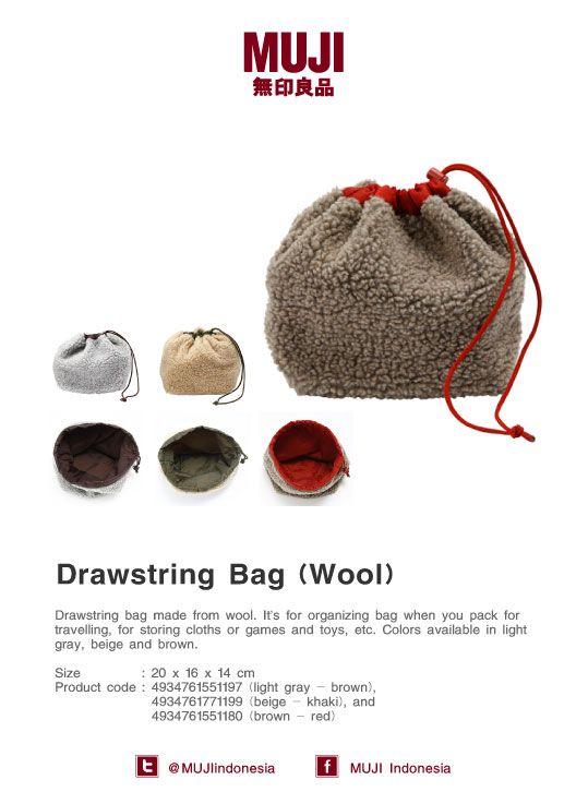 Wool Drawstring Bag