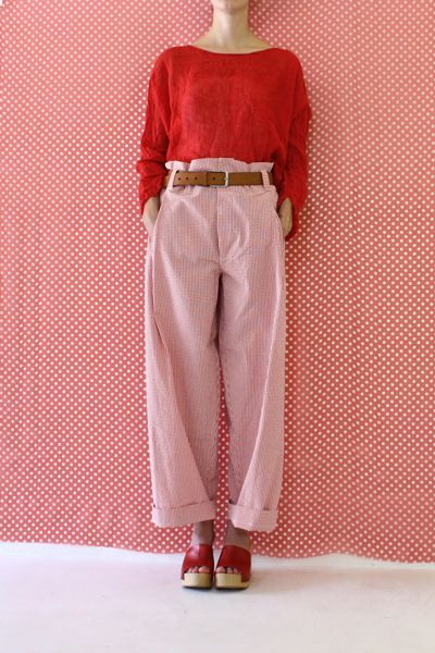 Daniela Gregis washed long sirio trousers