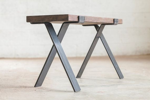 Bold MFG is proud to offer our Cross Legs from the Flatform series. This pair of bench legs is cold formed from 3/8 x 3 flat bar steel and receives a