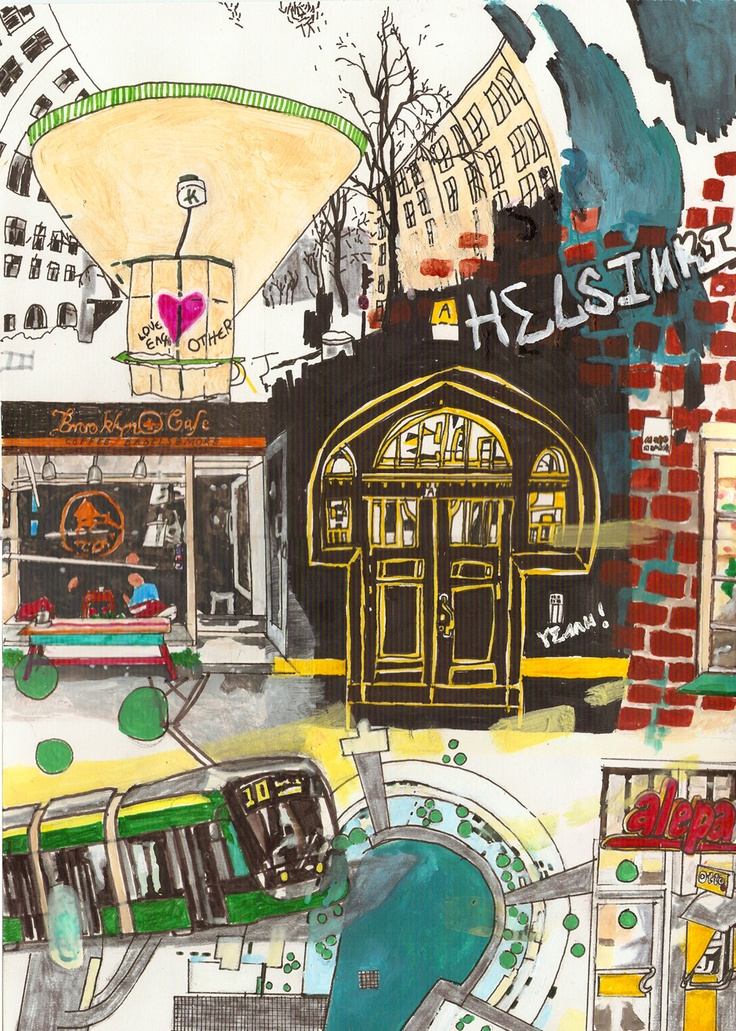 """Helsinki"" poster A3"