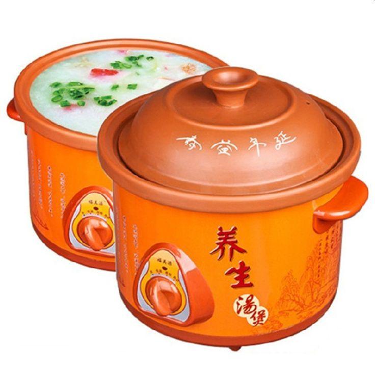 2016 New Sale Steamer Pot Kitchen Appliances Mini Casseroles Electric Slow Cooker Casserole Porridge Pot 1.5l (for 1 -2 People)