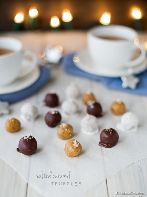 Salted Caramel Truffles - Raw & Vegan by 84thand3rd, Adapt this recipe for the Thermomix. This recipe is kinda Paleo!