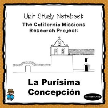 This product includes the California Mission Research Project for Mission La Purísima Concepción. Each mission project has a cover sheet, two research posters (these can be pasted to a file folder to create a stand up poster project), three research paragraph prompts, two pages for