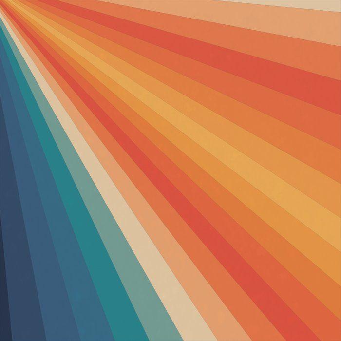 Retro 70s Sunrays Comforters By Alisagal Society6 Retro Wallpaper Aesthetic Wallpapers Retro Background