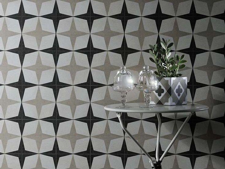 Piastrelle geometriche tendenza casa 2016 - Cementine Black & White