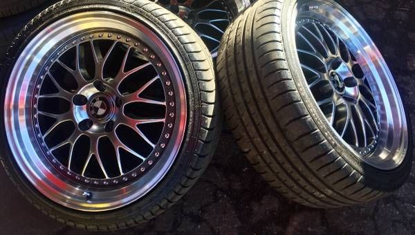 / Excellent 19 inch Rims Staggered Wheels & Tires /