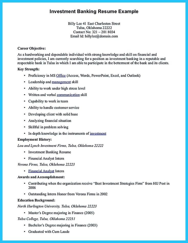awesome One of Recommended Banking Resume Examples to Learn, Check more at http://snefci.org/one-of-recommended-banking-resume-examples-to-learn