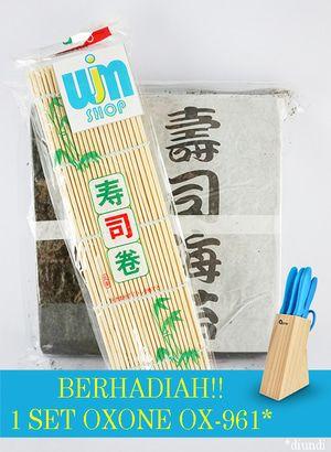 Nori Takaokaya + Sushi Mat - P. Nogu 50 Beli Paket Lebih Praktis isi paket nogu 50: - Nori takaokaya 50 lembar - Sushi mat/ gulungan sushi