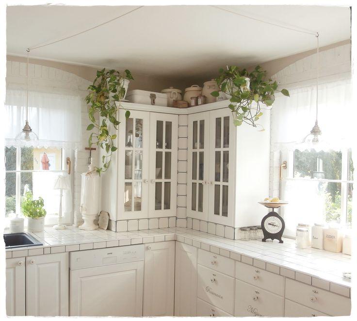 k che kitchen shabby white shabbylandhaus pinterest shabby und k chen. Black Bedroom Furniture Sets. Home Design Ideas