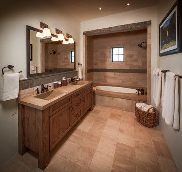 180 best images about western rustic on pinterest for Country master bathroom ideas