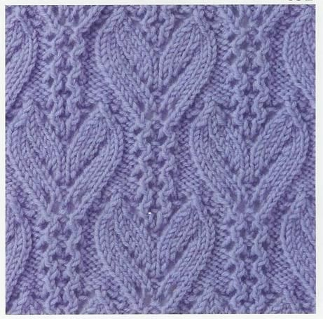 Knitting 4 Stitches Together : Lace Knitting Stitches: Lace Knitting Stitch #34 Knitting stitch patterns ...