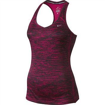 Womens Sports Clothing & Sportswear - Womens Sports Apparel - Rebel - Nike Womens Printed Miler Tank