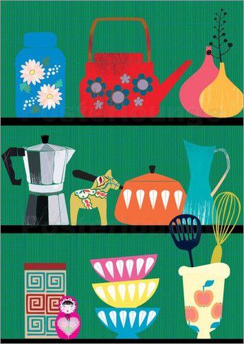 Poster kitchen shelf – Elisandra Sevenstar