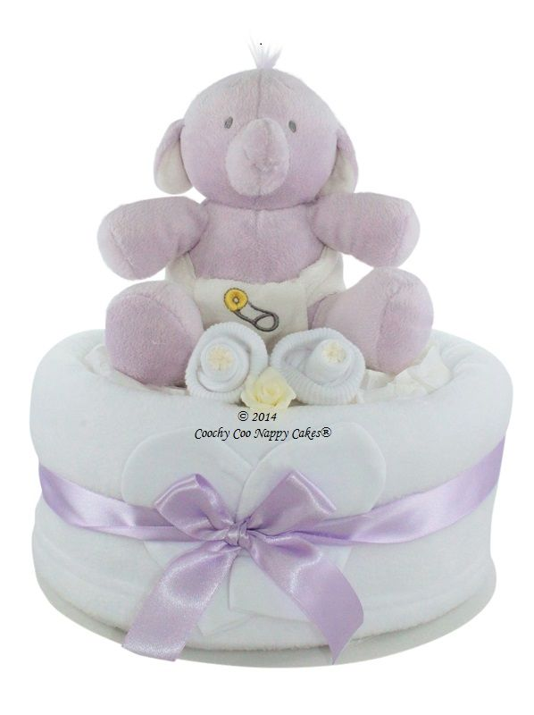 Unisex Humphreys corner nappy cake baby shower gift www.CoochyCooNappyCakes.co.uk
