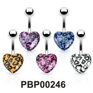Piercing do pupíku s motivem srdíčka PBP00246. Piercing je dostupný v různých barevných kombinacích a je vyrobený z chirurgické oceli 316l. http://www.piercingate.cz/piercing-do-pupiku-srdicko-pbp00246