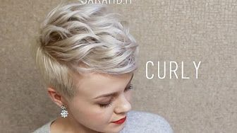 (1) how to style a pixie with a curling iron - YouTube