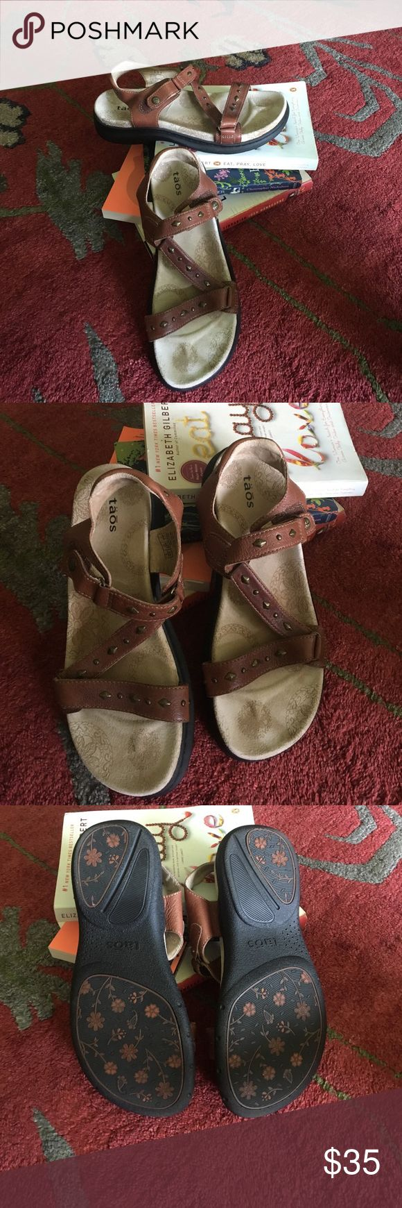 Taos Phoebe sandals, size 7/37. Nice pair of Taos sandals. No wear on the sole!! Taos Footwear Shoes Sandals