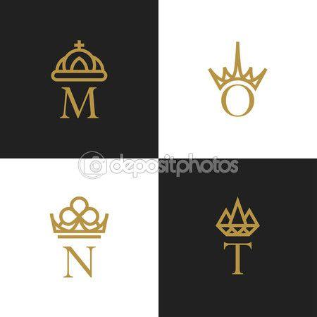 왕관 로고와 편지 — 스톡 일러스트 #84555850