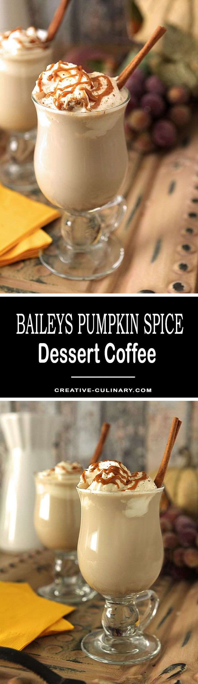 This Dessert Coffee with Bailey's Pumpkin Spice Liqueur is a special treat that is sure to warm you to your toes! via @creativculinary