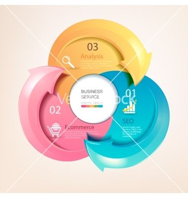 Set of colorful infographic arrows vector by bolsunova on VectorStock®