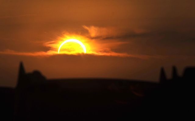Solar eclipse was real-life astronomy lesson for millions - the eclipse as seen from Texas