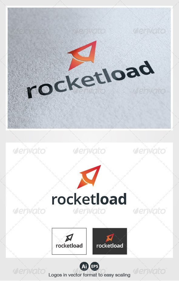 Rocket Load  - Logo Design Template Vector #logotype Download it here: http://graphicriver.net/item/rocket-load-logo/2771991?s_rank=339?ref=nesto