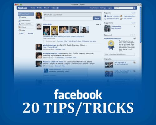 20 Tips/Tricks for Facebook.....You may learn something new!!! Repin NOW read later!